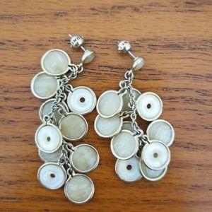 Monet neutral color dangly earrings